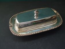 VINTAGE SILVERPLATE SHELL DESIGN BUTTER DISH WITH LID
