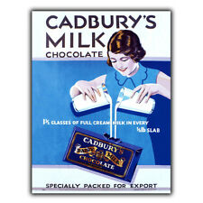 CADBURY MILK CHOCOLATE Vintage Retro Advert METAL WALL SIGN PLAQUE poster print