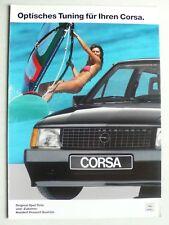 Prospekt Opel Corsa A Optisches Tuning, 11.1987, 6 Seiten, folder