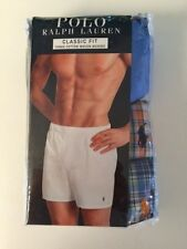 NIP POLO RALPH LAUREN MENS LOT 3 PAIR BOXERS UNDERWEAR SMALL PONY