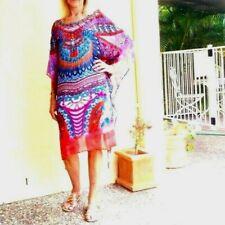 Kaftans / Turquoise Pinks Orange & Coral / Embellished front & back / Wholesale