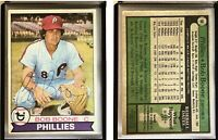 Bob Boone Signed 1979 Topps #90 Card Philadelphia Phillies Auto Autograph