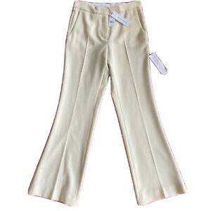 Topshop Cream Wide-legged Trousers Size 6