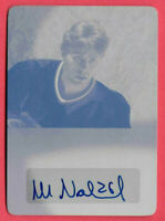 2015-16 Mats Naslund Leaf Ultimate Signatures Auto 1/1 Printing Plate -Canadiens