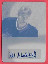 2015-16 Mats Naslund Leaf Ultimate Signatures Auto 1/1 Printing Plate -Canadiens