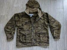 COLUMBIA hunting coat WOOL camouflage jacket LARGE hooded