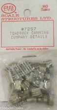 SS Ltd. HO #7257 Toadsuck Canning Company Details (Cast Metal)