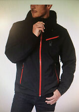 Spyder Mens Lined Black Red Winter Hooded Jacket Size XL (STORE RETURN) READ #