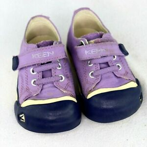 Keen Toddler Infant Purple Canvas Sneaker Shoe Hook and Loop Size 5