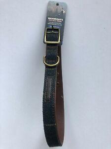 Wainwrights Luxury Woven Herringbone Collar Size medium 41-51 cm   INK BLUE