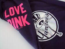 Victorias Secret PINK Sweatpants New York Yankees NY Crops Capris X Small Nwt