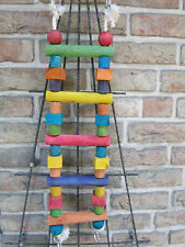 Papageienspielzeug ! Big  Colour Ladder ! 60 cm Holzbrücke - Leiter !