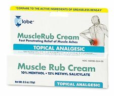 12 Tubes of Muscle Rub Cream 0.5 oz Tube (Compare to Bengay)