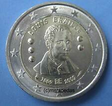 Bélgica 2 euros conmemorativa 2009 Louis Braille euro moneda Commemorative Coin