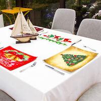 Fj- Eg _ Calza Natale Albero Orso Tavolo da Pranzo Resistente Al Calore