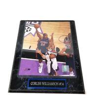 CORLISS WILLIAMSON Detroit  Pistons #34 Wood Marble Plaque Man Cave Decor Photo