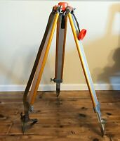 Vintage KERN SWISS Tripod for Surveying Instruments Levels Aluminum Metal Orange