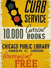 ADVERTISING CHICAGO CURRENT BOOKS CONVENIENT, FREE, TIME SAVING POSTER LV591