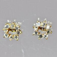 1 Carat Natural Diamond 14 Karat solid Gold Earring Jackets Enhancers