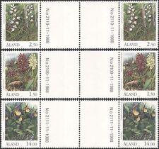 Aland 1989 Orchids/Flowers/Nature/Endangered Plants/Conservation 3v prs  n45309b