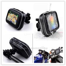 "Watreproof shockproof motorcycle Bike handlebar case mount holder GPS phone 4.3"""