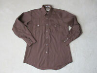 Ely Cattleman Pearl Snap Shirt Adult Large Brown Cowboy Western Rodeo Mens