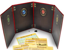 The Master's Tome Customizable DM Screen, Red w/ 4 Art Inserts