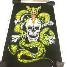 New ListingOriginal Vintage Dragon Skull Velvet Black light Scorpion Poster 1823 Usa Made