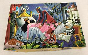 "Vintage 1987 Disney Sleeping beauty puzzle 60 pc 16"" x 11"" MB Milton- Rare"