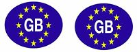 2x sticker decal vinyl oval car truck van GB flag adhesive euro great britain