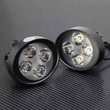 2xCar Truck Motorcycle Scooter Headlight 4LED Spot Work Light Driving Fog 3000LM