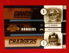 2004 CONTENDERS ROUND NUMBERS BLUE #RN1 ELI MANNING PHILIP RIVERS #'D 322/1500