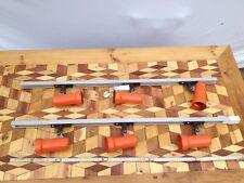 2 Erco Strahlerleisten Schiene orange 70er Design
