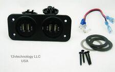 Highest Power Twin  True 8.4 Amp USB Charger Socket Plug Waterproof No LED 12V