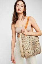 Free People Old Trend Laguna Leather Studded Tote Bag Beige  NEW NWT Purse