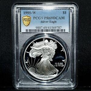 1995-W $1 PROOF SILVER AMERICAN EAGLE ✪ PCGS PR-69 ✪ PF 1 OZ OZT RARE ◢TRUSTED◣