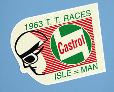 ISLE OF MAN TT 1963 'CASTROL' vintage style Motorbike Motorcycle Decals Stickers