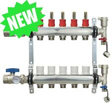 5 Loopport Stainless Steel Pex Manifold Radiant Heating With Connectors Pex Guy