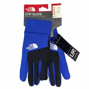 New The North Face Etip Glove Unisex Adult Blue Black U|R Powered Touchscreen
