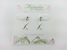 Aimee by Pastore Sterling Silver Earrings Ribbon R$20.99 STR-111