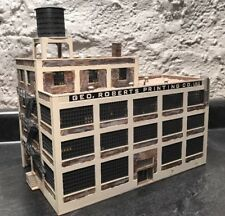 HO Scale Building Built Geo Roberts Printing Co Inc Weathered