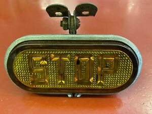 1920 'S 1930 'S BUMPER FENDER MOUNT AMBER ILLUMINATED STOP LIGHT LAMP ASSEMBLY
