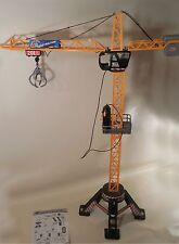 "Dickie Toys 48"" Tall Remote Control Mega Crane Tested & Works w/ Instructions"