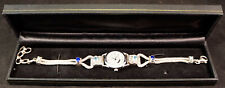 Rare Marianna Richard by Sajen Sterling Silver 925 Bracelet watch Blue Stones #2