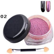 12 COLORS 2g/Box Glitter Magic Mirror Chrome Effect Dust Shimmer Nail Art Powder