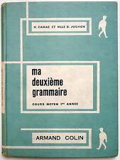 Livre scolaire: Ma deuxième grammaire. CM1 1961