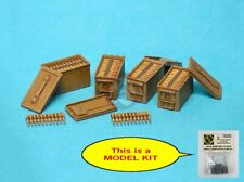 Special Ops 1/16 US M2A1 .50 Cal Open Ammo Box Set w/Belts (4 pcs w/Decal) 16005