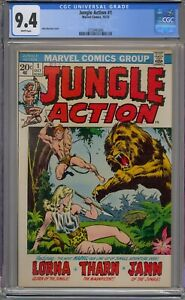 JUNGLE ACTION #1 CGC 9.4 WHITE PAGES