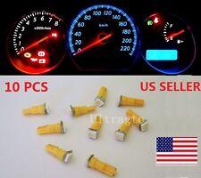 10x T5 Yellow Car 5050 SMD LED Instrument Dashboard Gauge Mini Wedge Bulb light