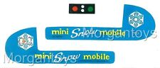 FISHER-PRICE Little People MINI SNOWMOBILE #705 REPLACEMENT LITHOS  STICKERS